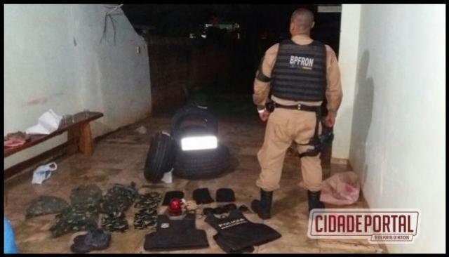 Policia Militar por intermédio do BPFron desarticula logística de quadrilha em Guaíra e encaminha suspeito