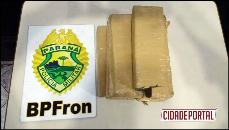 BPFron apreende 6 kg de maconha em abordagem a ônibus na cidade de Francisco Beltrão-PR