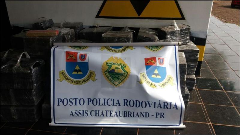 Posto Policial Rodoviário de Assis Chateaubriand apreende mais de 1 Tonelada de Maconha
