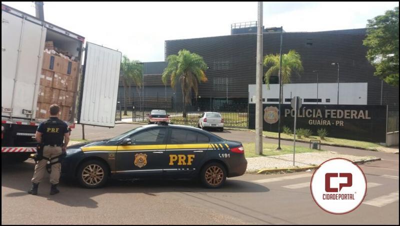 PRF e PF apreendem R$ 7,5 milhões em cigarros contrabandeados no Paraná; quatro homens foram presos