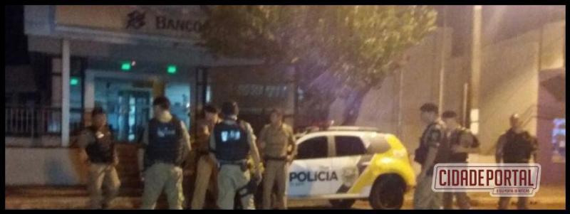 Banco do Brasil em Peabiru foi alvo de bandidos na madrugada deste domingo, 15