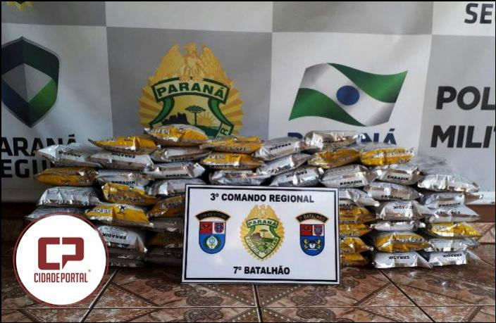 Polícia Militar do 7º BPM apreendem inseticida ilegal no Município de Rancho Alegre do Oeste