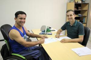 Inscrito primeiro atleta no programa de incentivo ao esporte o Bolsa Atleta
