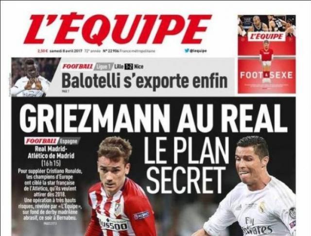 Jornal francês revela plano do Real para ter Griezmann na sucessão de CR7
