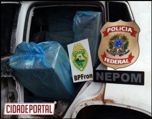 Veículos roubados utilizados para o contrabando de cigarros são recuperados pelo BPFron