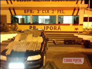 Polícia Rodoviária Estadual através do PPRV Iporã  apreende duas pessoas com 53 kg de maconha