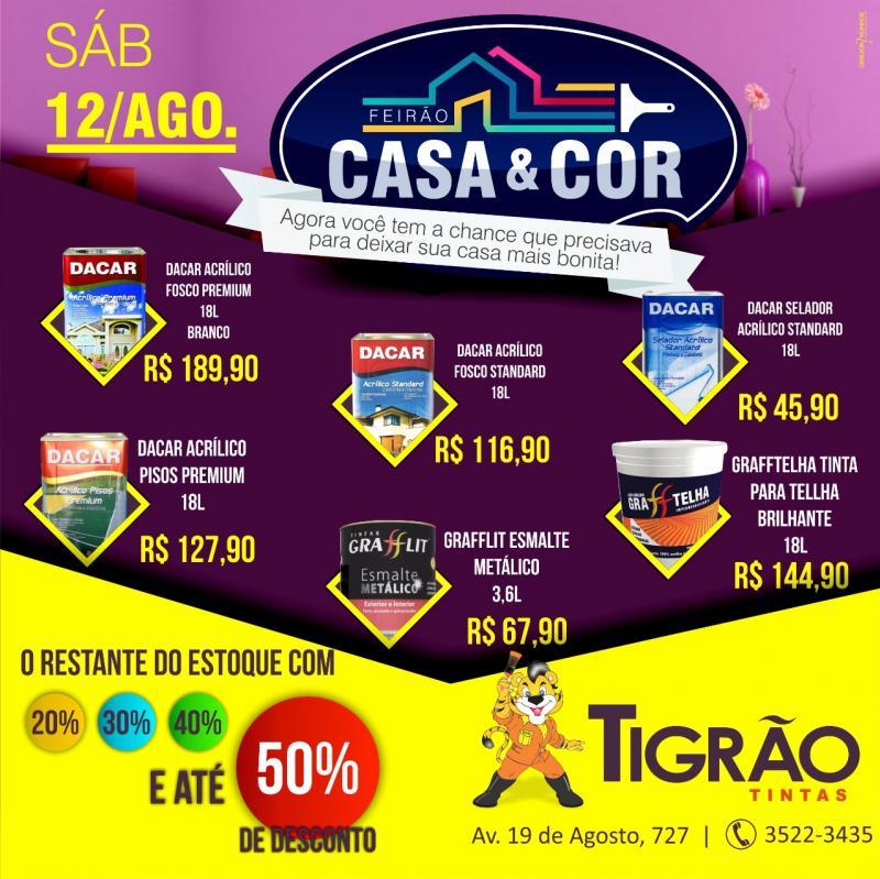 Tigrão Tintas: Feirão Casa & Cor - agora você tem a chance que precisava para deixar sua casa mais bonita!