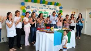 Crianças do CMEI Maria Belizário preparam Bolo dos 62 Anos de Goioerê