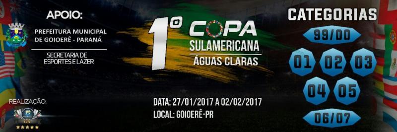 Mais de 2 mil atletas confirmados na Copa Sulamericana em Goioerê