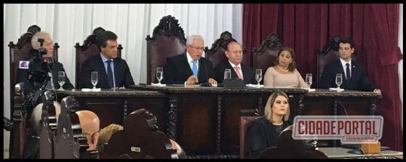 Patrik Pelói participa da posse do novo presidente do Tribunal de Contas do Estado