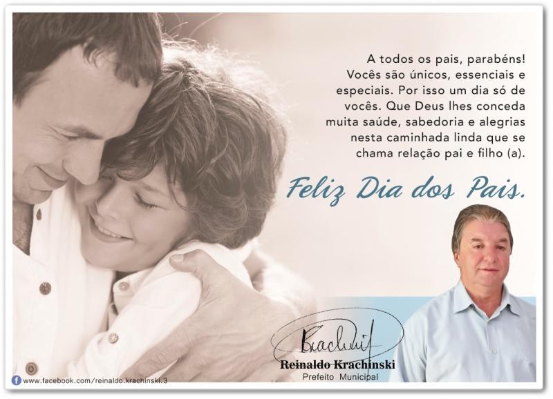 Homenagem aos dia dos Pais do Prefeito de Quarto Centenário Reinaldo Krachinski