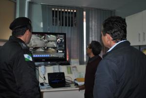 Prefeito acompanha pessoalmente a verificação do funcionamento das Câmaras de Monitoramento em Goioerê