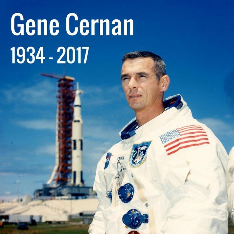 Eugene Cernan, último astronauta a pisar na Lua, morre aos 82 anos