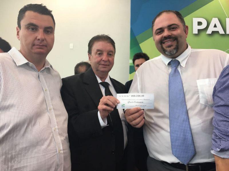 Prefeito Reinaldo Krachinski recebe repasse do ICMS para investimentos no Município