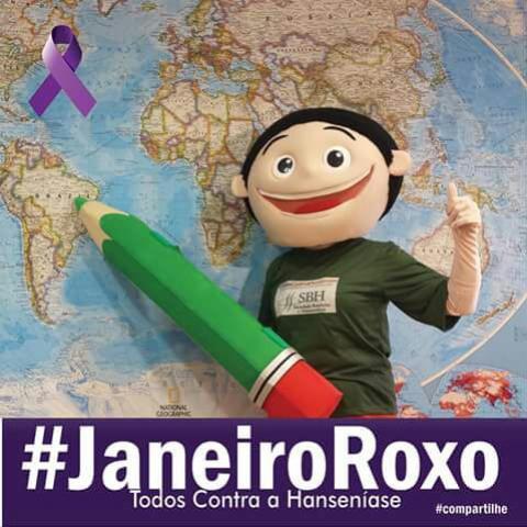 Janeiro ROXO- Campanha Contra a HANSENÍASE