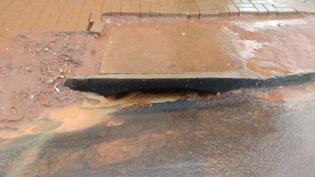 Asfalto que cedeu no Jardim Universitário devido as chuvas será refeito pela empresa responsável