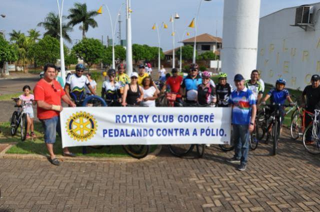 Pedalando contra a Polio foi transferido para o dia 29 de Outubro