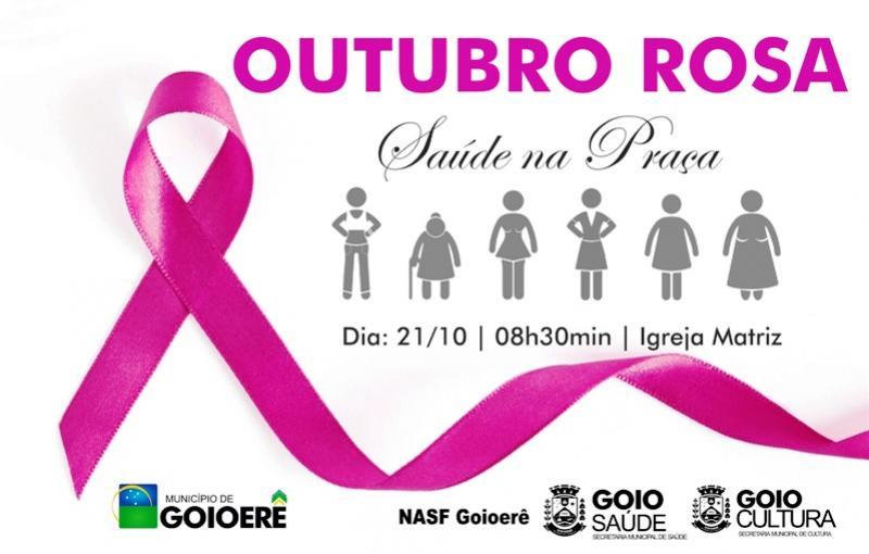 Nasf promove saúde na praça neste sábado em referência a Outubro Rosa