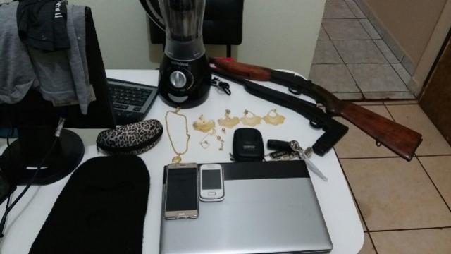 Policiais do 7º BPM recuperam produtos roubados e realizam apreensão de duas armas de fogo em tapeja