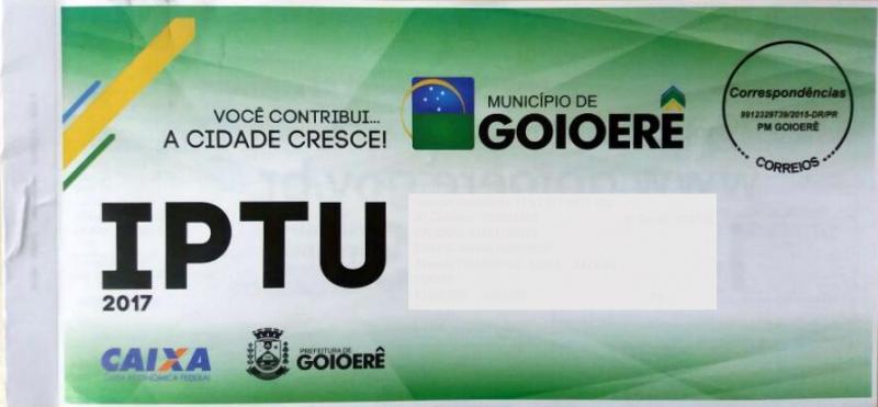 Prefeitura de Goioerê estende data para pagamento do IPTU devido ao atraso na entrega dos Carnês