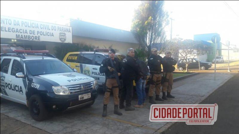 Forças Policiais de Ubiratã efetuaram a prisão de uma pessoa por homicídio qualificado e ocultação de cadáver
