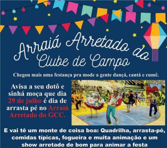 Show Arretado vai agitar Arraiá do Clube de Campo