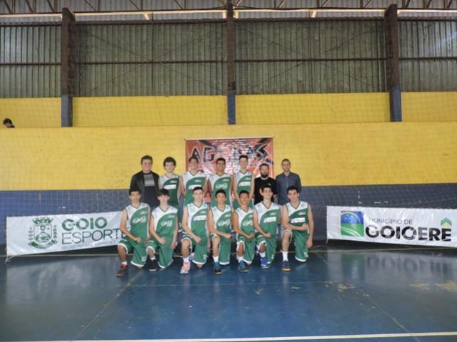 A equipe goioerense de Basquetebol Masculino jogou pela segunda rodada do Campeonato Estadual Sub 17