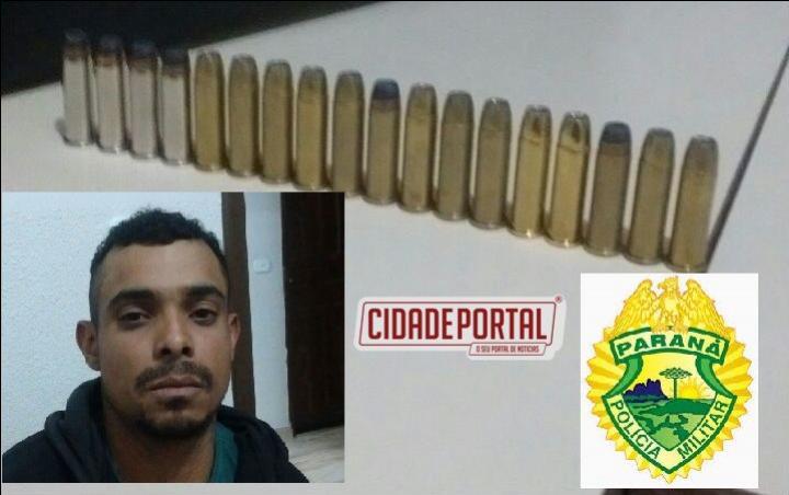 Polícia Militar de Goioerê prende uma pessoa em posse de 18 munições de calibre 38 durante abordagem em bar da cidade