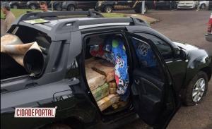 Polícia Federal e BPFRON apreendem quase uma tonelada de maconha na Operação Fronteira Integrada