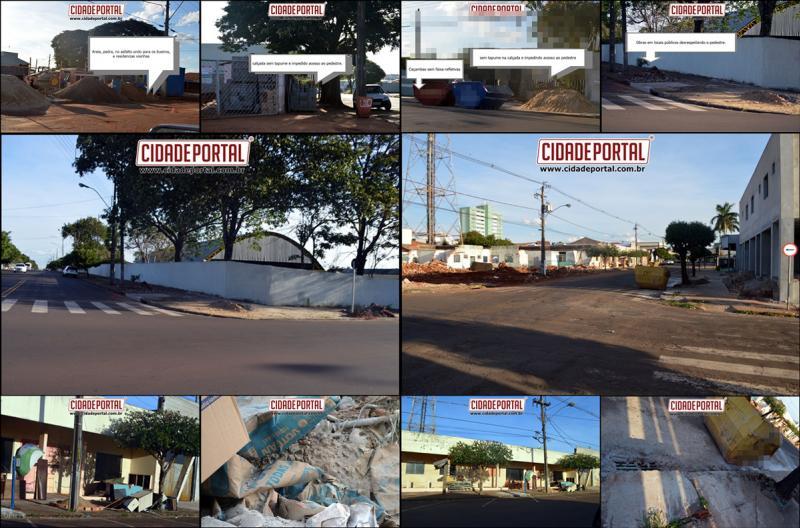 Obras não respeitam código de postura do município e causam prejuízos a comunidade