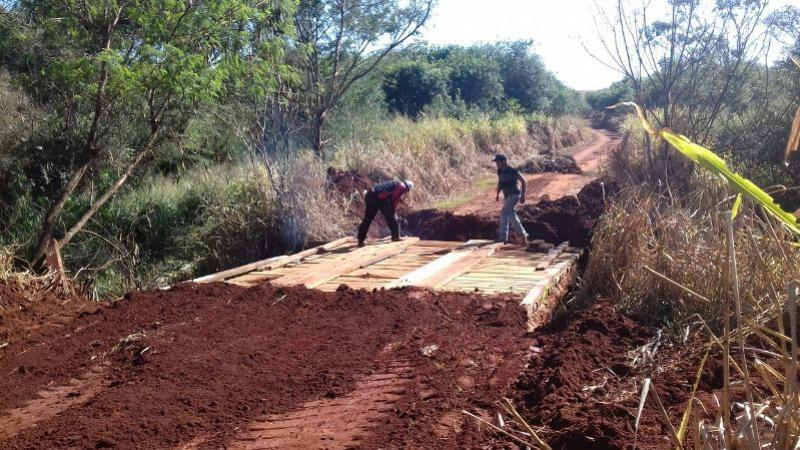 Prefeitura de Goioerê realiza recuperação da ponte da porteira preta Estrada do Rosseto