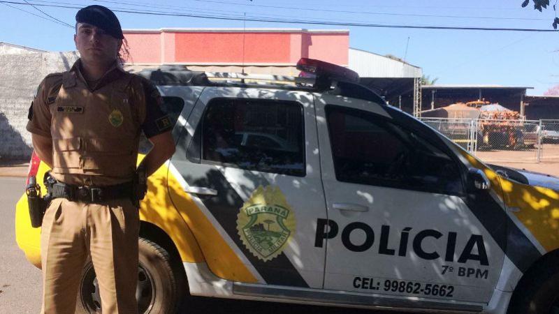 Soldado da Polícia Militar da 2ª CIA do 7º BPM salta na frente de veículo para salvar crianças