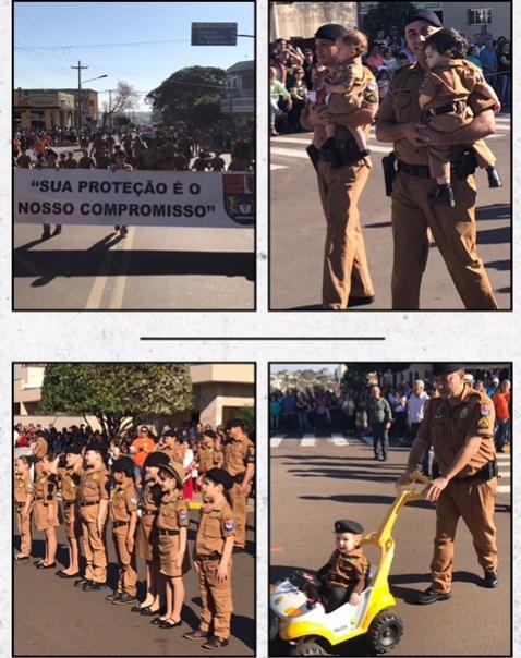 Banda da Polícia Militar e 7º BPM abrem desfile Cívico Municipal em Comemoração aos 65 anos da cidade de Cruzeiro do Oeste