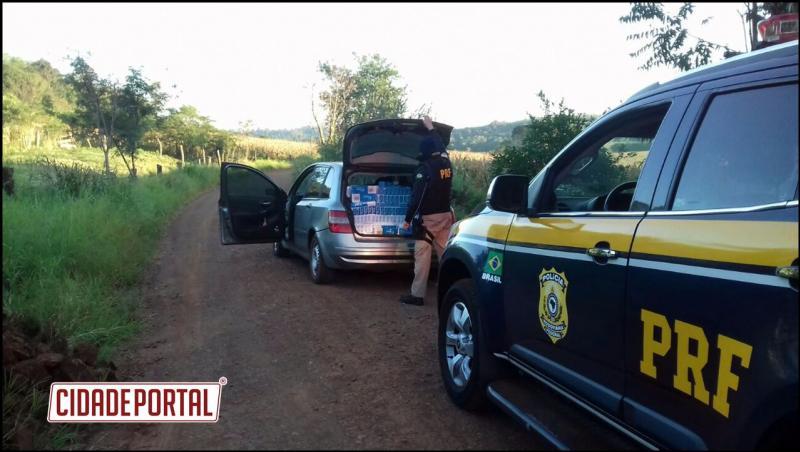 Polícia Rodoviária Federal apreende12.500 carteiras de cigarro contrabandeados no oeste do Paraná