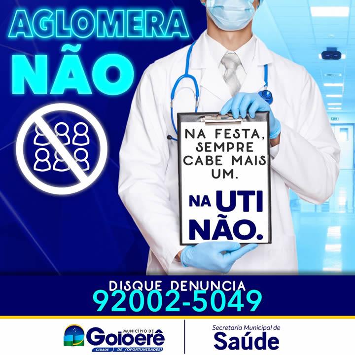 Aglomera não - Disk denuncia