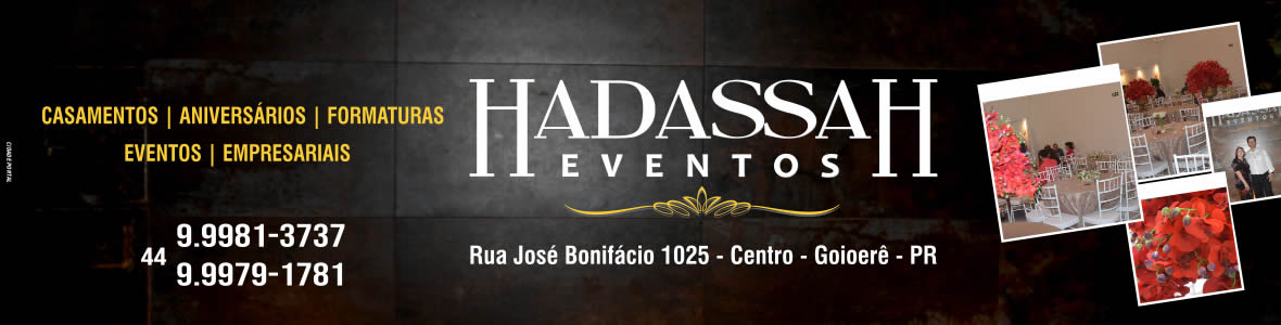 Hadassah Eventos - Principal Eventos
