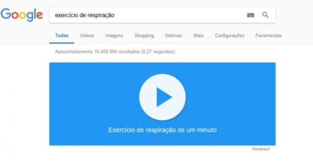 Busca do Google agora tem exercício de respiração no PC e no celular