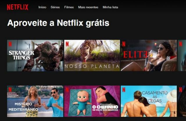 Netflix grátis em 2020: site libera filmes e séries para assistir de graça