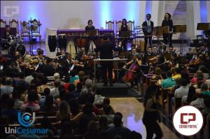 Orquestra Filarmônica do Unicesumar se apresentou pela terceira vez em Goioerê