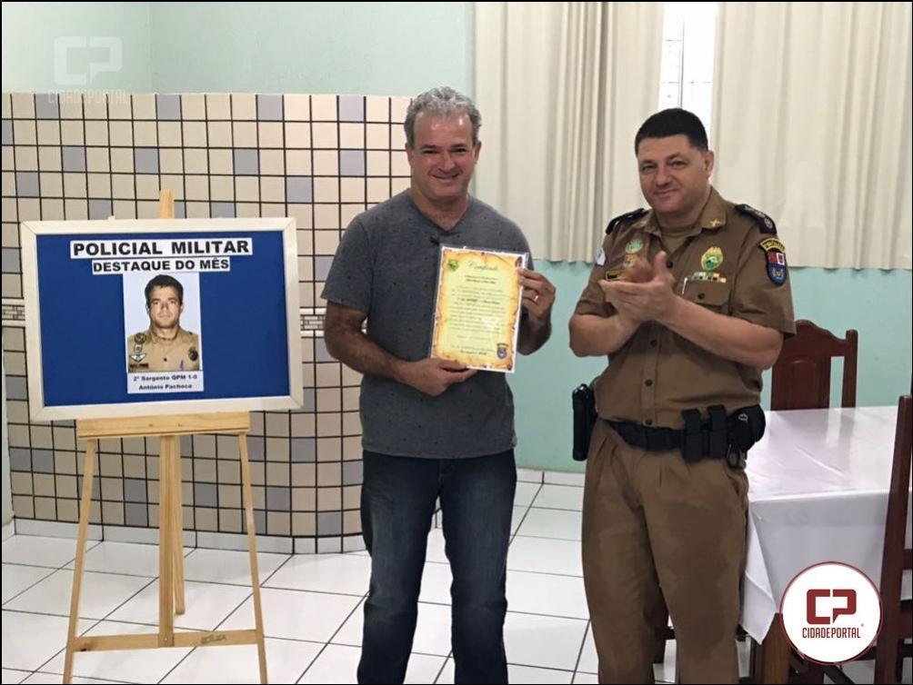 Policial destaque do mês do 7º BPM PMPR