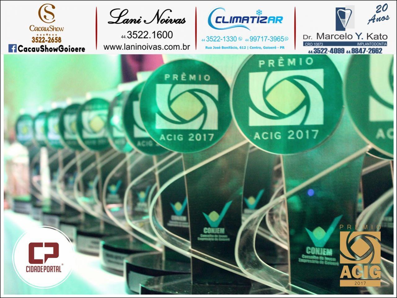Prêmio Acig - Melhores do Ano de 2017