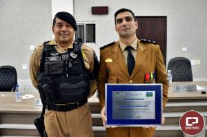 Capitão da Polícia Militar de Goioerê recebe Título de Mérito Policial da Câmara Municipal