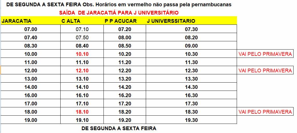 Expresso Mourãoense - Transporte Municipal - Jaracatiá para Jardim Universitário 2ª a 6ª Feira