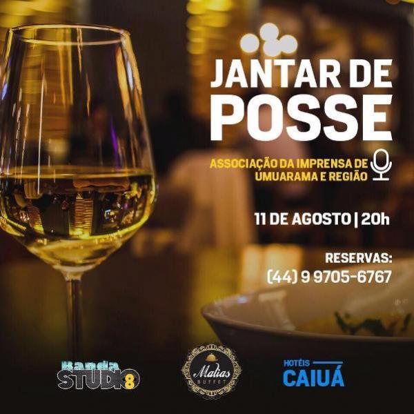 Jantar de Posse da Associação da Imprensa de Umuarama e Região será nesta sexta-feira, 11