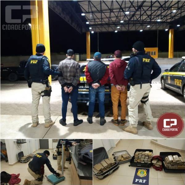 PRF prende três homens com 91 quilos de entorpecentes em Cascavel