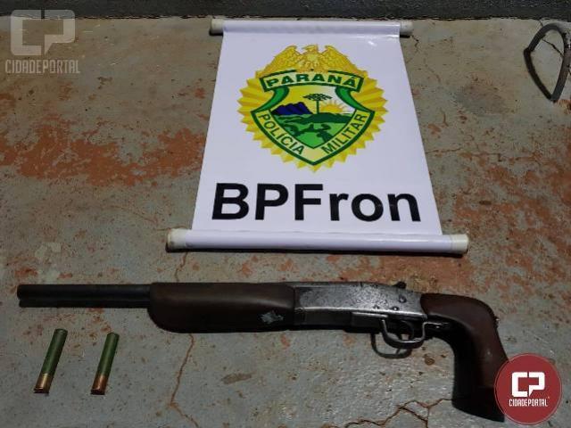 BPFron apreende arma em distrito de Santa Helena/PR