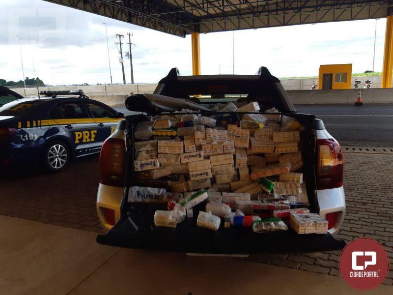Polícia Rodoviária Federal apreende caminhonete lotada de anabolizantes no Paraná