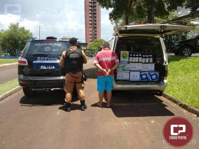 BPFRON apreende agrotóxicos contrabandeados do Paraguai na Ponte Internacional da Amizade