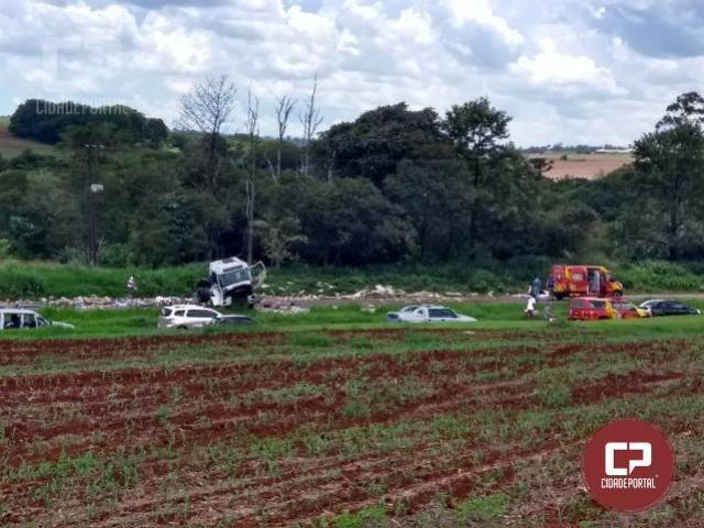 Duas pessoas ficam feridas em acidente na BR-467 entre Toledo e Cascavel