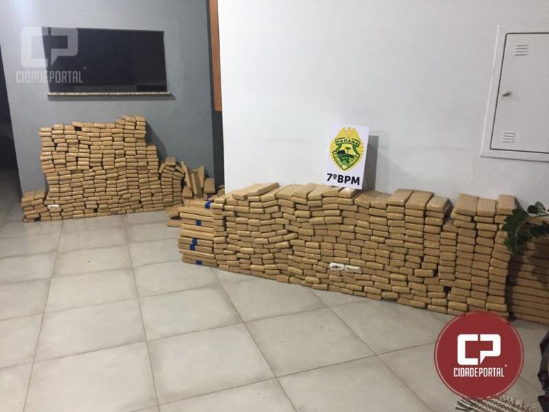 Policiais do 7ºBPM apreendem mais de 700 tabletes de maconha em Mariluz